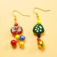 Beebeecraft Beginners Project – 2 Steps to Make Christmas theme Dangle Earrings