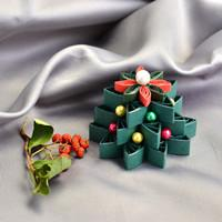 Beebeecraft ideas on making Quilling Paper Christmas Tree decoration ornaments