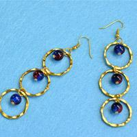 Beebeecraft Tutorials on How to Make Glass Beads Earrings