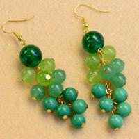 Beebeecraft Tutorials on Making Your Own Fresh and Cute Beaded Drop Earrings
