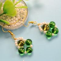 Beebeecraft Tutorials on How to Make Earrings with Glass Beads and Pearl Beads