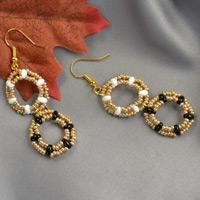 Beebeecraft Tutorials on making a pair of seed beaded dangle earrings