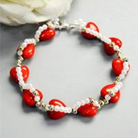 Beebeecraft Tutorials on Making Red Heart Bracelet