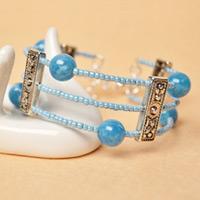 Beebeecraft Tutorials on Making Gemstone Beads Bangle Bracelet