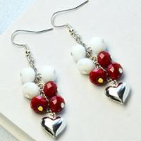 Beebeecraft Tutorials on How to Make Heart Earrings