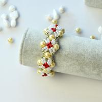 Beebeecraft Tutorials on How to Make Beaded Pearl Bracelet