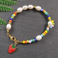Beebeecraft Tutorials on How to Make Strawberry Clay Bracelet