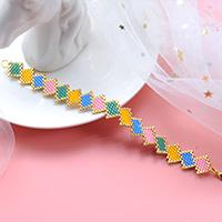Beebeecraft Tutorials on How to Make Colorful square bracelet