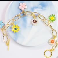 PandaHall Selected Idea on Flower Pendant Bracelet