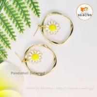 PandaHall Selected Tutorial on Handmade Blossom Pendant earrings