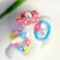 PandaHall Idea On Colorful Seed Beaded Ring Set