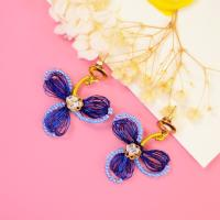 PandaHall Tutorial on Blue Wire Wrapped Earrings