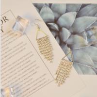 PandaHall Selected Idea on Shining Diamond Tassel Earrings