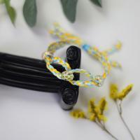 PandaHall Selected DIY Tutorial on Fresh Colored Braided Bracelet