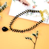 PandaHall Idea on Black&Golden Beaded Anklet