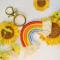 PandaHall Selected Idea on Cute Key Chain With A Rainbow Pendant