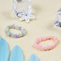 PandaHall Selected Idea on Cute Flower Shape Beaded Rings