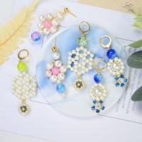PandaHall Selected Idea on Flower Shape Pearl Earrings
