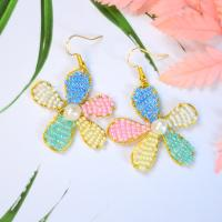 PandaHall Idea on Colorful Flower Shape Beaded Earrings