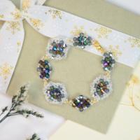 PandaHall Selected Idea on Vintage Diamond Shape Glass Beaded Bracelet