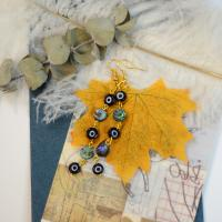 PandaHall Selected Idea on Evil Eye Bead Earrings
