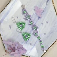 PandaHall Selected Tutorial on Geometry Shape Pearl Beaded Jewelry Set