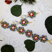 PandaHall Selected Idea on Colorful Flower Shape Beaded Jewelry Set