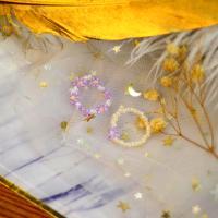 PandaHall Selected Idea on Flower Shape Beaded Rings