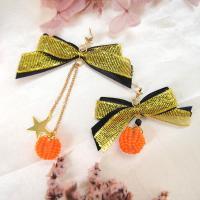 PandaHall Idea on Bow Pumpkin Earrings