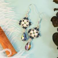PandaHall Selected Idea on Drop-shaped Pendant Beaded Earrings