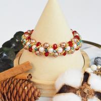 PandaHall Tutorial on Christmas Beaded Bracelet