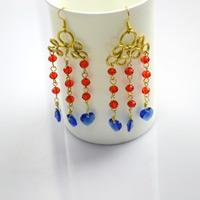 Wie wickelt man Ohrringe mit Perlen Makrameen von Draht