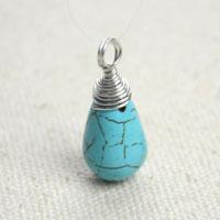 How to Wire Wrap a Briolette Pendant