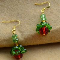 Apple earrings, for happy Christmas