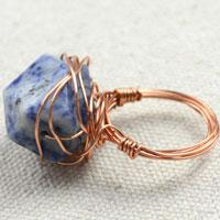 How to Make Wire Wrapped Ring with Messy Wrap Methods
