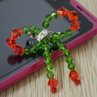 Butterfly bow brooch in Christmas colors