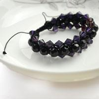 Simple way to make beaded bracelets- DIY bracelet in triple colored Panama hat pattern