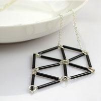 Mothers day jewelry ideas- bugle beaded diamond necklace