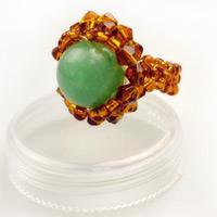 How to Make Jewelry with Beads and Wire-A Beaded Ring for Your Index Finger
