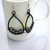 Handmade Jewelry Ideas-Wire Wrapped Chandelier Earrings