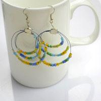Arts and Crafts Jewelry- Beaded Hoop Earring Tutorial