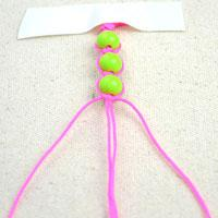 String beads with knot-easy and beautiful