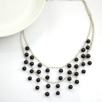 Handcrafted Beaded Jewelry- A Piece of Black Pearl Necklace