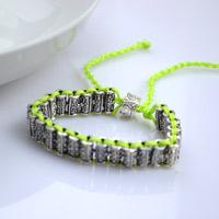 Crafts jewelry making- DIY beaded bracelet with 4 stand braiding