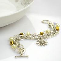 Jewelry making designs- multi-sized chain bracelet DIY