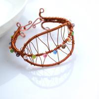 DIY art crafts-extraordinary leaf-shape wire bracelet ideas
