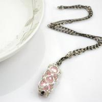 Chainmail necklace styles - unique handcrafted jewelry with jump rings and pearls