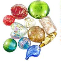 Foil Glass Beads- fashion element