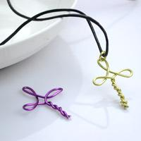 Metal jewelry ideas - create a cross necklace for girls
