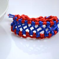 How do You Make Woven Hemp Bracelet with Two Colored Strings for Guys